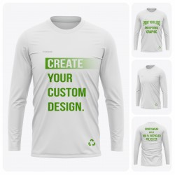 Men's Long Sleeve  Round Collar Recycled T-Shirt