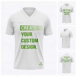 Men's Short Sleeve  V-Neck Recycled T-Shirt