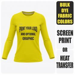 Woman Long Sleeve  T-Shirt - Semi Custom +