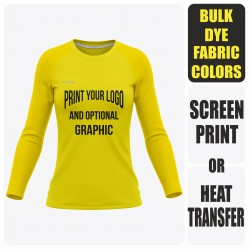 Woman Reglan Long Sleeve  T-Shirt - Semi Custom +